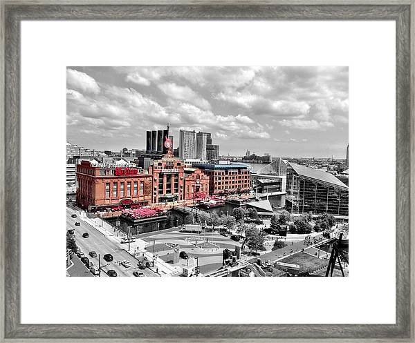 Baltimore Power Plant Color Black White Framed Print
