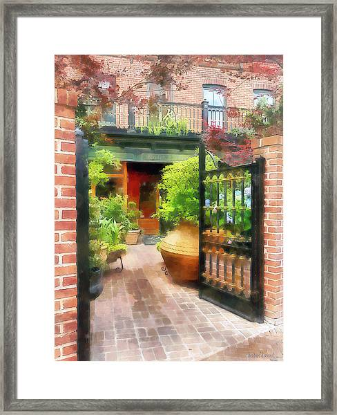 Baltimore - Restaurant Courtyard Fells Point Framed Print