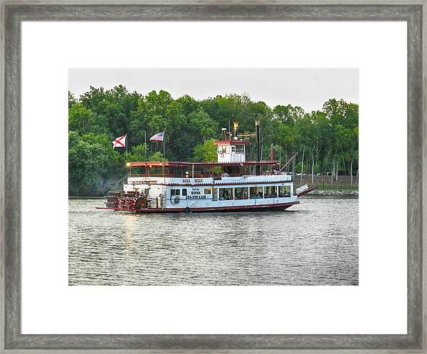 Bama Belle On The Black Warrior River Framed Print