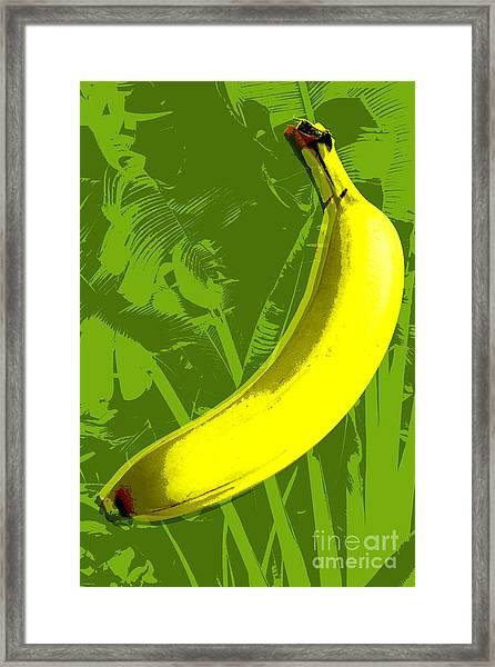 Banana Pop Art Framed Print