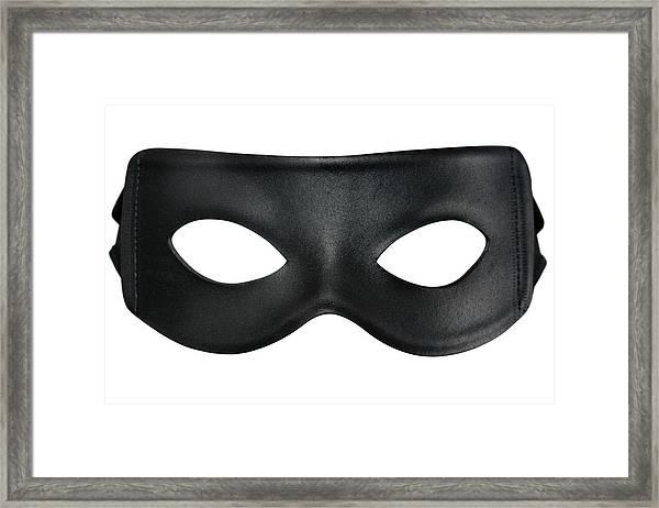 Bandit Mask Framed Print by RoyalFive