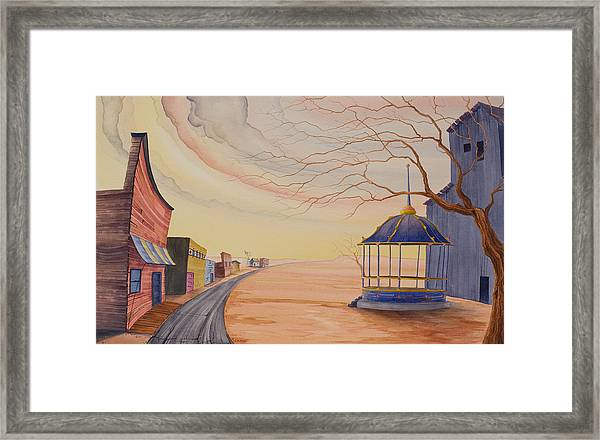 Framed Print featuring the painting Bandstand by Scott Kirby