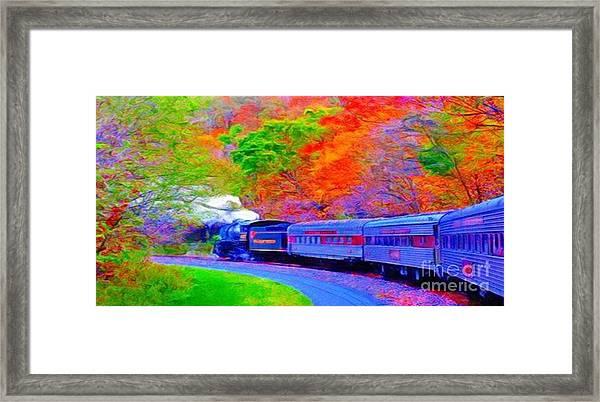 Bang Bang Choo Choo Train-a Dreamy Version Collection Framed Print