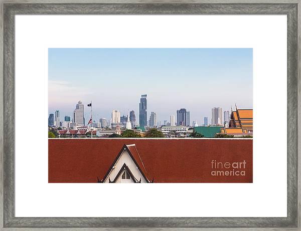 Bangkok Modern Vs Traditional Framed Print