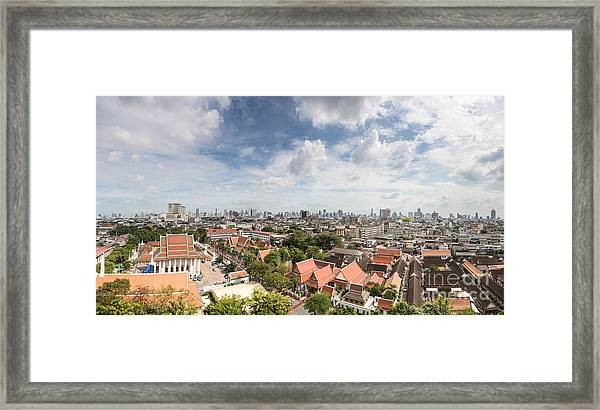 Bangkok Panorama Framed Print