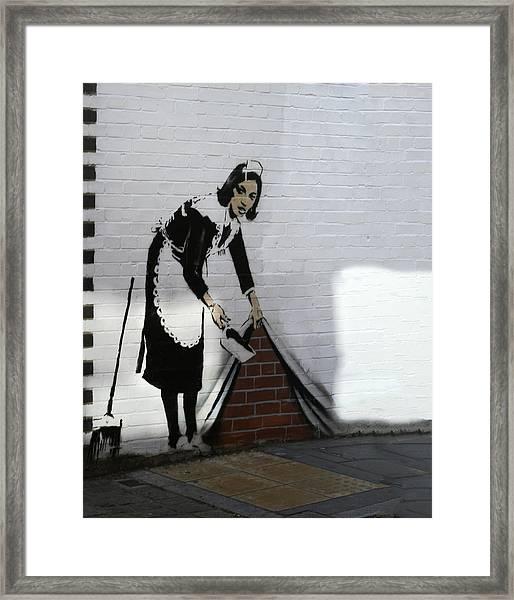 Banksy Maid Framed Print