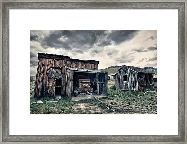 Bannack Carriage House Framed Print