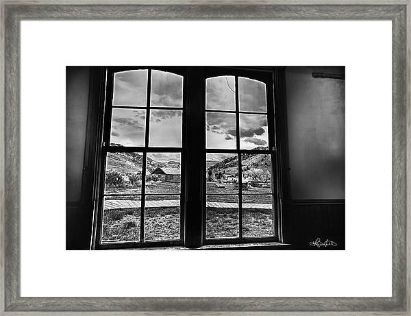 Bannack Window Framed Print