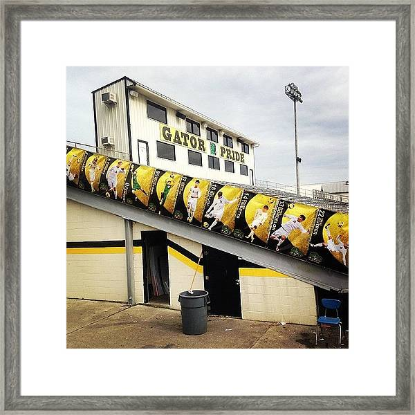 Banners Are Up!! #pit #soccer #gators Framed Print