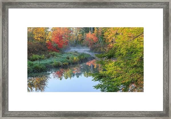 Bantam River Autumn Framed Print