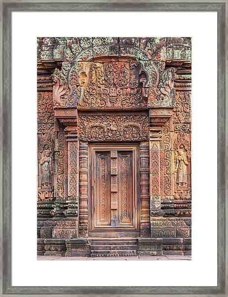 Banteay Srei Castle Framed Print