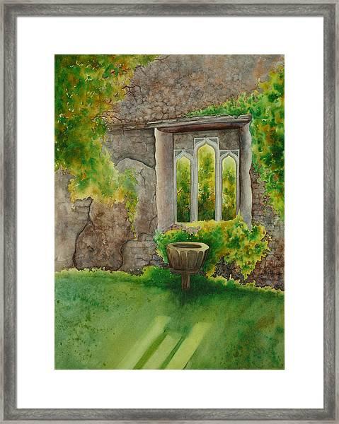 Baptistry At Lainston House  Winchester England Framed Print