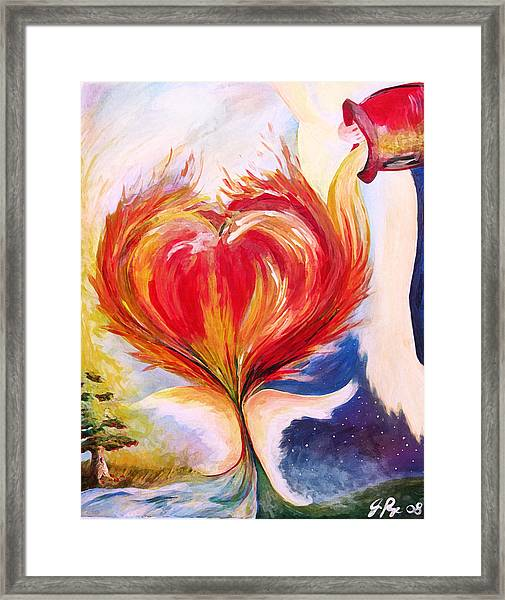 Baptize Me With Holy Fire Framed Print