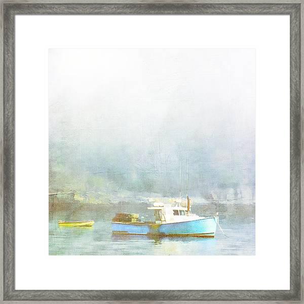 Bar Harbor Maine Foggy Morning Framed Print