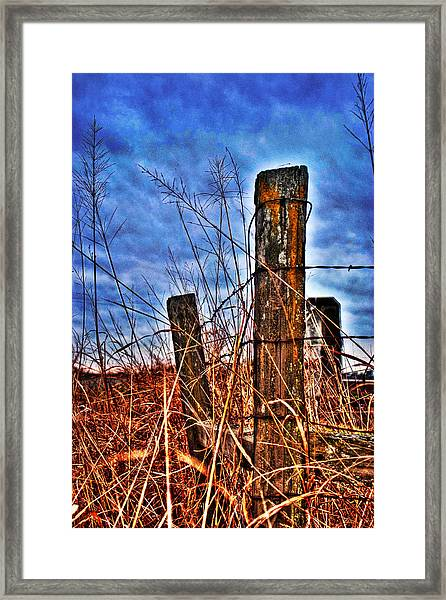 Framed Print featuring the photograph Barb Wire Fences by William Havle