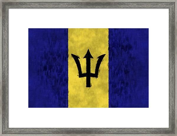Barbados Flag Framed Print