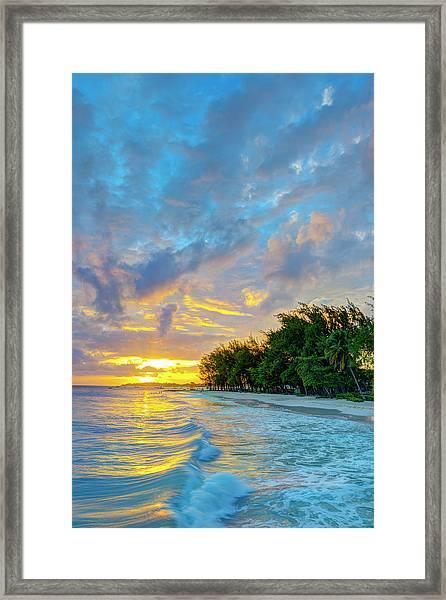 Barbados, Oistins, Miami Beach Or Framed Print