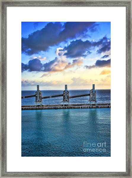 Barbados Sugar Silos Framed Print