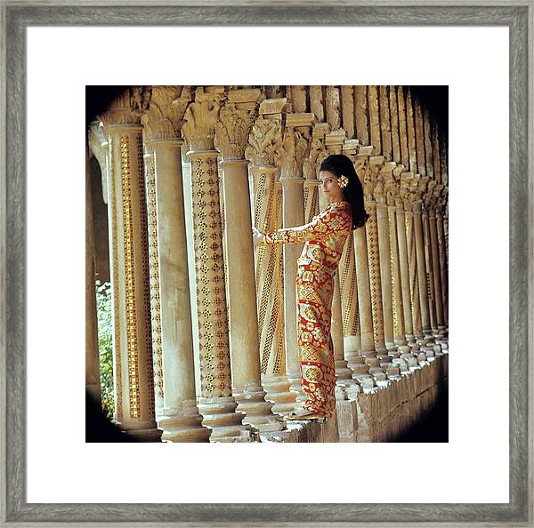 Barbara Bach In Monreale Framed Print by Henry Clarke