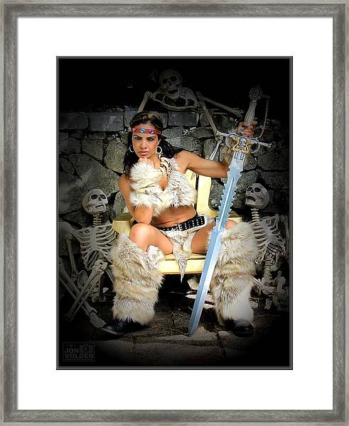 Barbarian Queen Framed Print