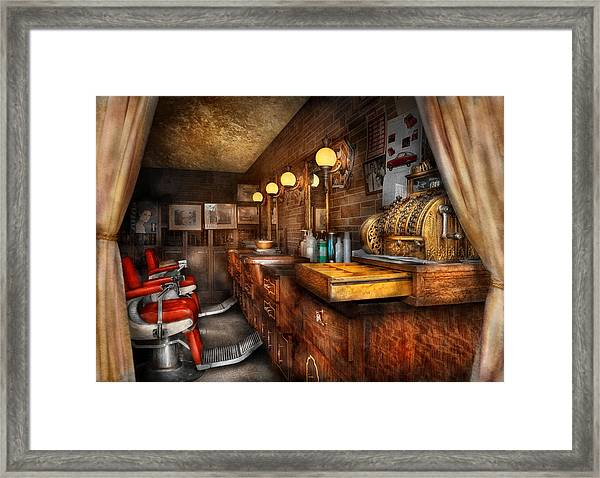 Barber - Closed On Sundays Framed Print