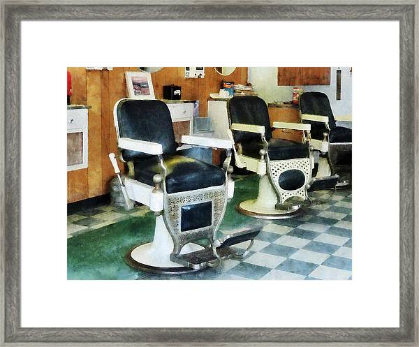 Barber - Corner Barber Shop Framed Print