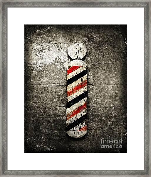 Barber Pole Selective Color Framed Print