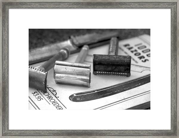 Barber Shop 20 Bw Framed Print