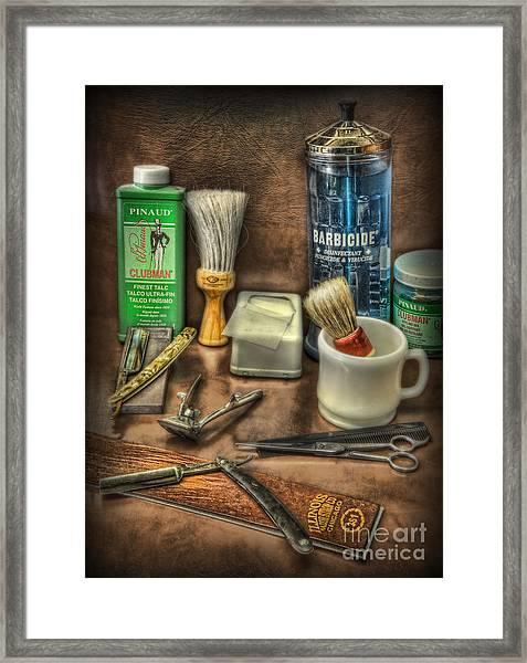 Barber Shop Tools  Framed Print by Lee Dos Santos