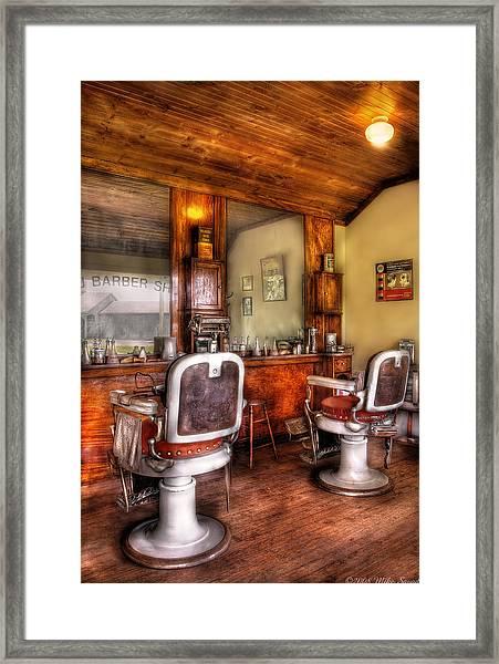 Barber - The Barber Shop II Framed Print