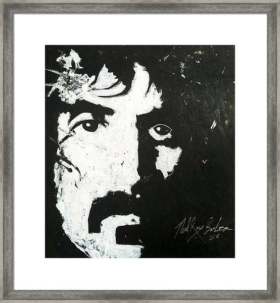Barbosa Paints Zappa Framed Print