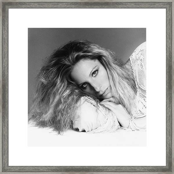 Barbra Streisand Lying Down Framed Print
