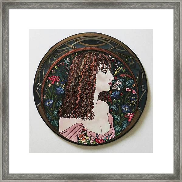 Barbra's Garden Framed Print
