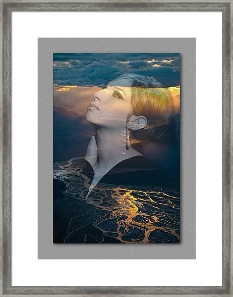 Barbra's Vision Framed Print