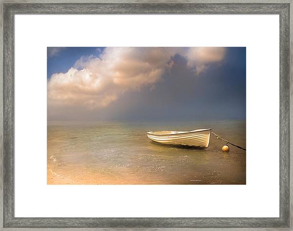 Barca De Marisqueo Framed Print