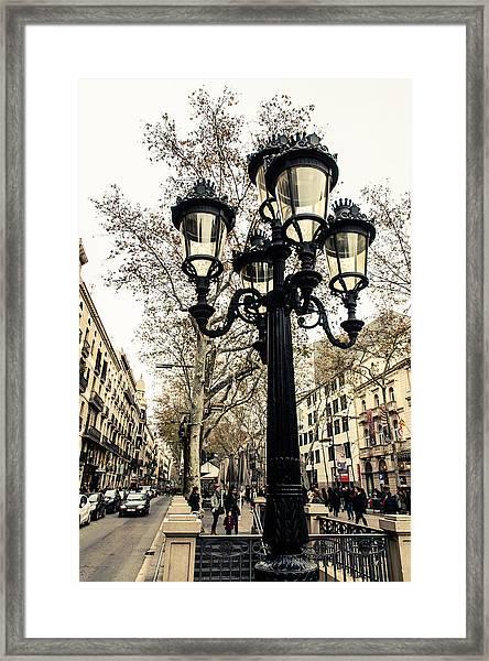 Barcelona - La Rambla Framed Print