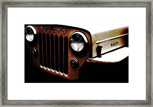 Bare Bones Rusty Framed Print