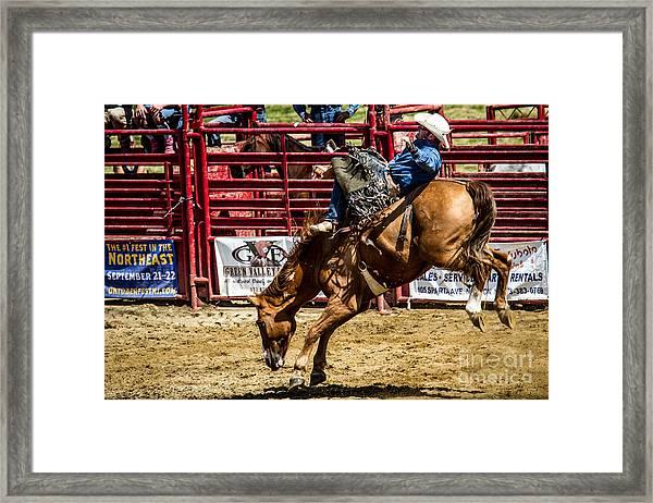 Bareback Riding Framed Print