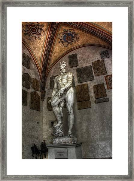 Giambologna's Oceano Framed Print
