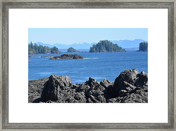 Barkley Sound And The Broken Island Group Ucluelet Bc Framed Print