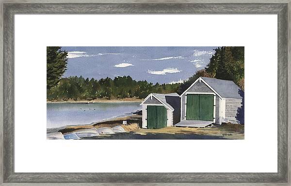 Barley Neck Boat Houses Framed Print