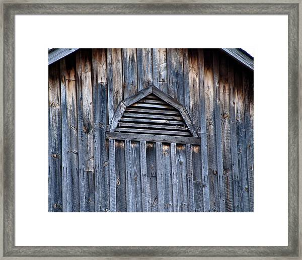 Barn And Batten Framed Print by Nickaleen Neff