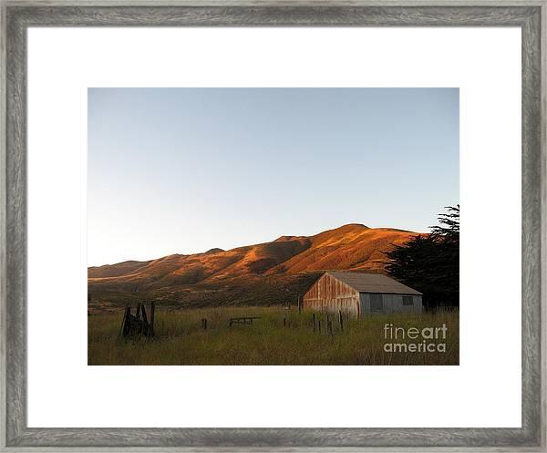 Barn At Garrapata State Park Framed Print