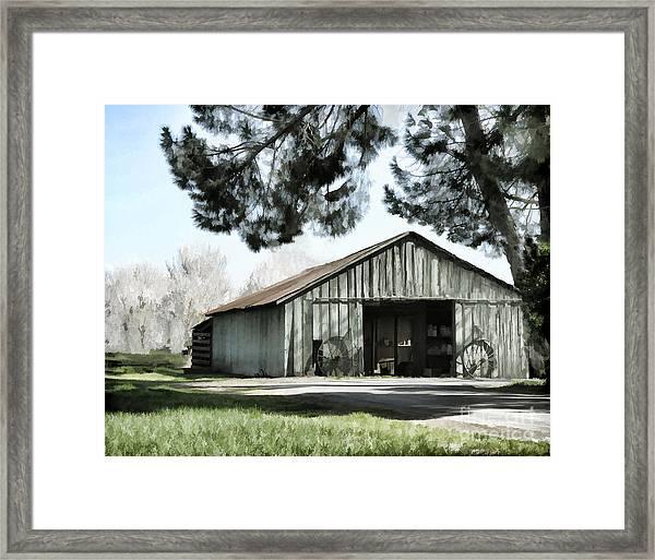 Barn At Vina Winery Framed Print