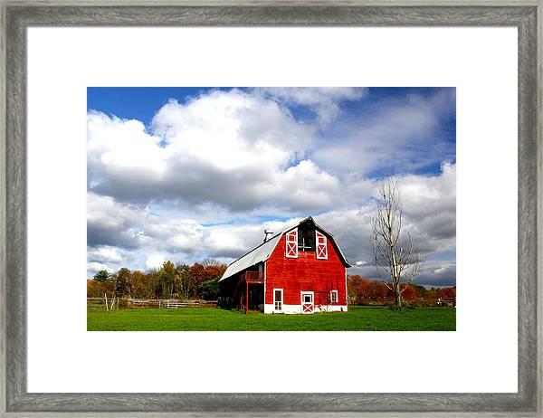 Barn Framed Print by Frank Savarese