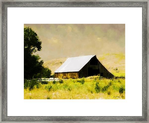 Barn In Pasture   Framed Print