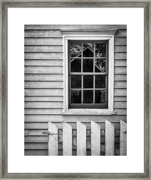 Framed Print featuring the photograph Barn In Refelction by Steve Stanger