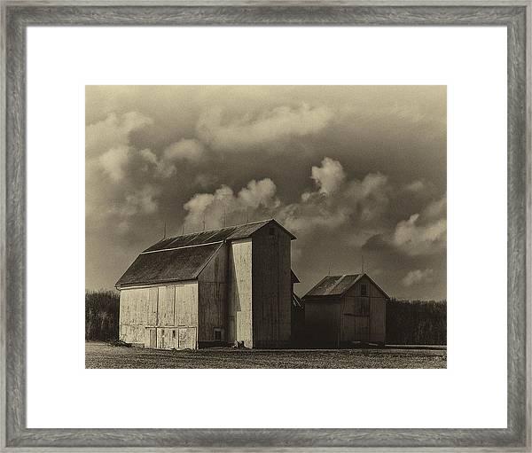 Barn In Sepia Framed Print