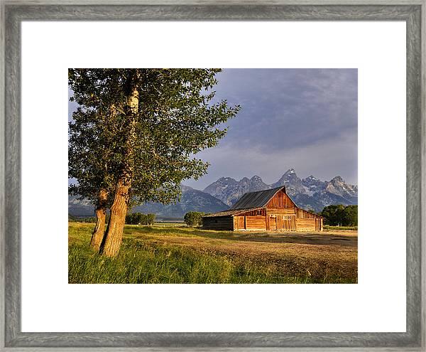 Barn In The Tetons Framed Print