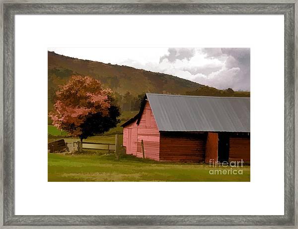 Barn In Vermont Framed Print